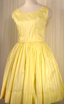 Yellow Cotton Swing Dress :  floral dress yellow satin